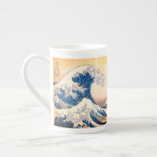神奈川を離れた素晴らしい波 ボーンチャイナカップ