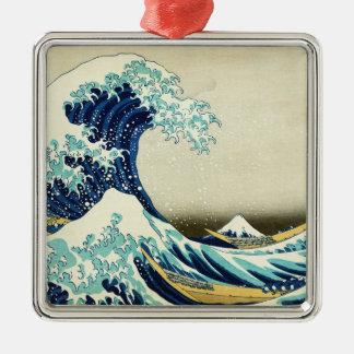 神奈川を離れた素晴らしい波 メタルオーナメント