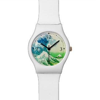 神奈川を離れた素晴らしい波 腕時計