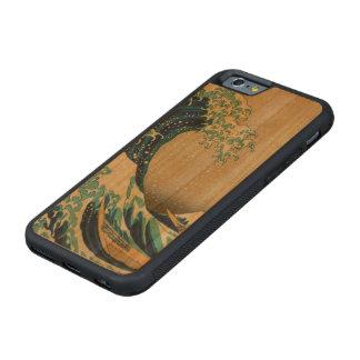 神奈川を離れた素晴らしい波 CarvedチェリーiPhone 6バンパーケース