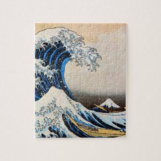 神奈川沖浪裏、北斎の素晴らしい波、Hokusai、Ukiyo-e ジグソーパズル