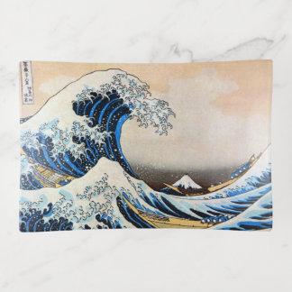 神奈川沖浪裏、北斎の素晴らしい波、Hokusai、Ukiyo-e トリンケットトレー