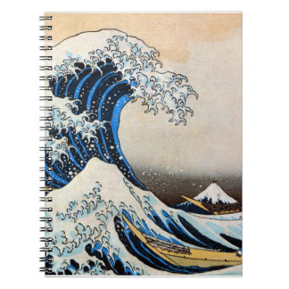 神奈川沖浪裏、北斎の素晴らしい波、Hokusai、Ukiyo-e ノートブック