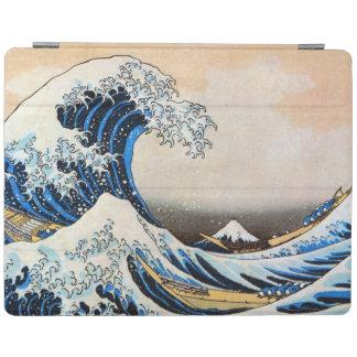 神奈川沖浪裏、北斎の素晴らしい波、Hokusai、Ukiyo-e iPadスマートカバー