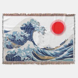 神奈川-神奈川沖浪裏を離れた素晴らしい波 ブランケット