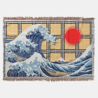 神奈川-神奈川沖浪裏を離れた素晴らしい波 毛布