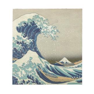 神奈川- Hokusaiを離れた素晴らしい波 ノートパッド