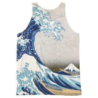 神奈川Hokusaiのファインアートを離れた北斎の素晴らしい波 オールオーバープリントタンクトップ