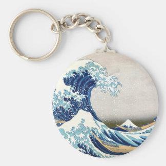 神奈川Hokusaiのファインアートを離れた北斎の素晴らしい波 キーホルダー