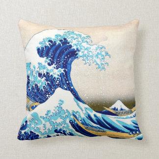 神奈川Hokusaiのファインアートを離れた北斎の素晴らしい波 クッション