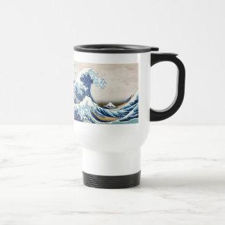 神奈川Hokusaiのファインアートを離れた北斎の素晴らしい波 トラベルマグ