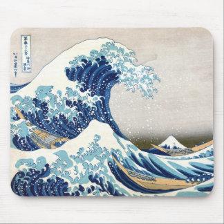 神奈川Hokusaiのファインアートを離れた北斎の素晴らしい波 マウスパッド