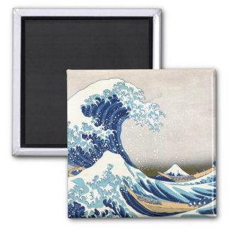 神奈川Hokusaiのファインアートを離れた北斎の素晴らしい波 マグネット