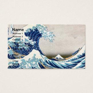 神奈川Hokusaiのファインアートを離れた素晴らしい波 名刺