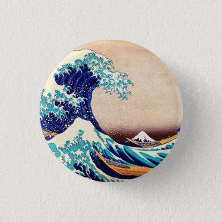 神奈川Hokusaiの日本人のヴィンテージを離れた素晴らしい波 缶バッジ