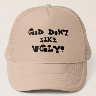 """""""神好みません醜い!""""は 淡色の帽子 キャップ"""