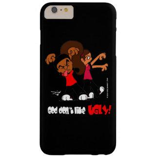 """""""神好みません醜い!""""は 黒い装置箱 BARELY THERE iPhone 6 PLUS ケース"""