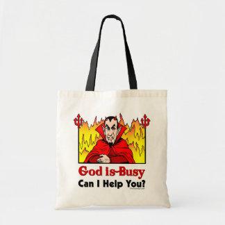 神忙しい、救済してもいいです私はありますか。 トートバッグ