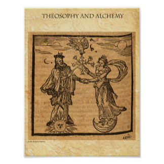神智学および錬金術 ポスター