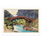 神橋、神聖な橋、ひろし吉田の木版画 ポストカード