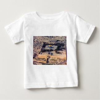 神殿の丘石の古い都市エルサレムのドーム ベビーTシャツ