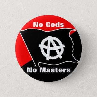 神無し赤いマスター無しおよび黒いボタン 5.7CM 丸型バッジ