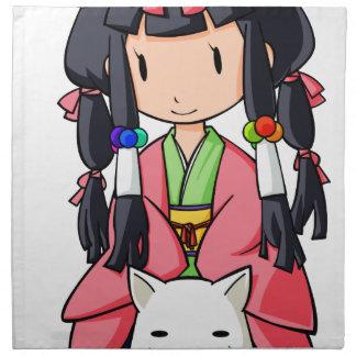 神犬八房伏姫様 英語物語 Nanso Chiba Yuru-chara ナプキンクロス