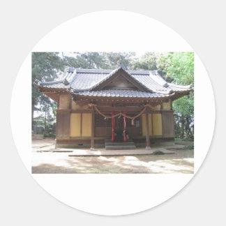 神社 丸型シール