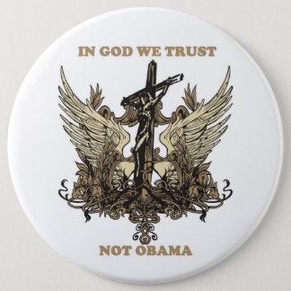 神私達信頼ないオバマ 15.2CM 丸型バッジ