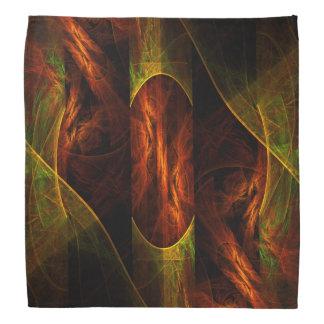 神秘性のジャングルの抽象美術 バンダナ
