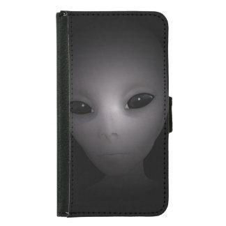 神秘的で黒いエイリアン GALAXY S5 ウォレットケース