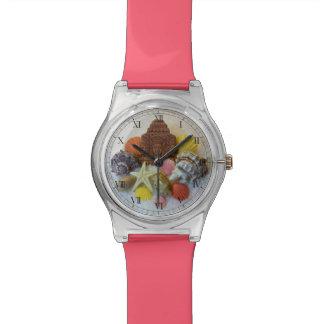 神秘的なエネルギー貝殻およびヒトデの腕時計 腕時計