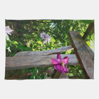 """神秘的なクレマチスの花の台所タオル16"""" x 24"""" キッチンタオル"""
