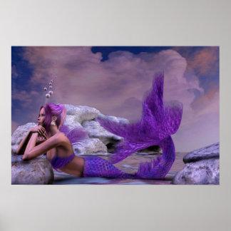 神秘的なサイレンのファンタジーの人魚のアートワーク ポスター
