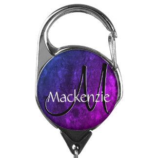 神秘的なトパーズのモダンで青い紫色のピンクの宝石の調子 IDカードホルダー