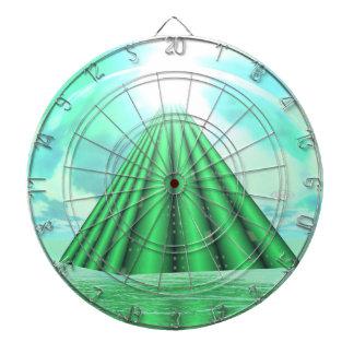 神秘的なピラミッド- 3Dは描写します ダーツボード