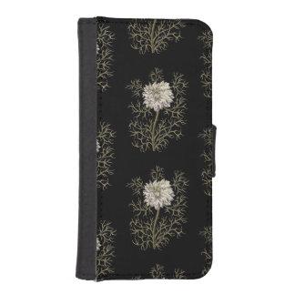 神秘的な中世花模様 iPhoneSE/5/5sウォレットケース