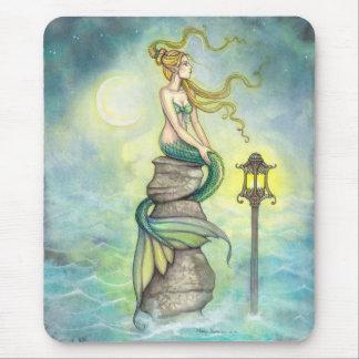 神秘的な人魚および月のファンタジーの芸術 マウスパッド