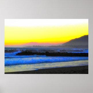 神秘的な日没 ポスター