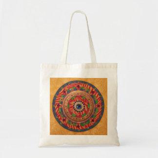神秘的な曼荼羅: ユニークな絵画のトート トートバッグ