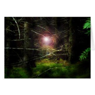 神秘的な森林 グリーティングカード