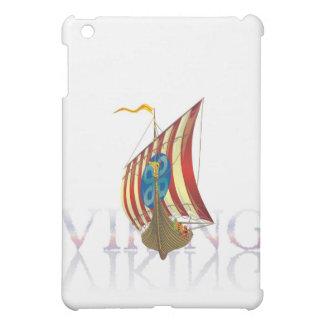 神秘的な水に反映するバイキングの船 iPad MINI CASE