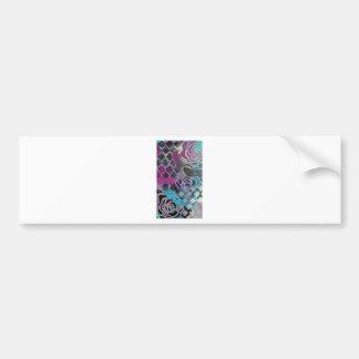 神秘的な紫色のゴシック様式抽象的な絵画パターン バンパーステッカー