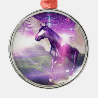 神秘的な馬 メタルオーナメント