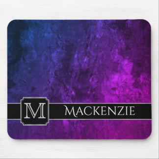 神秘的トパーズのオフィス の一流の紫色のピンクの青いグラデーション マウスパッド
