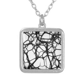 神経のくもの巣1 シルバープレートネックレス