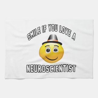 神経科学者を愛すればスマイル キッチンタオル