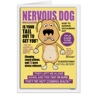 神経質な犬の雑誌のおもしろいなバースデー・カード カード