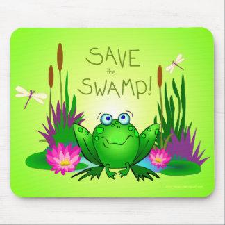神経過敏な泥地をカエルのマウスパッド救って下さい マウスパッド
