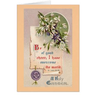 神聖なイースターヴィンテージのクリスチャン カード